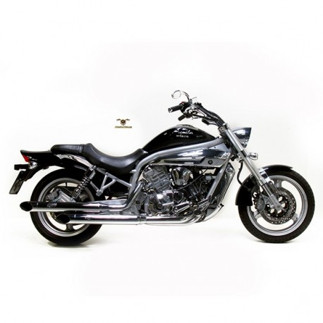2418 - FULL SYSTEM EXHAUST SILVERTAIL K02 CHROMED STEEL APPROVED