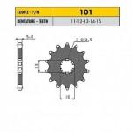 10112 - Pignone in Acciaio Sunstar Passo 420 con 12 denti