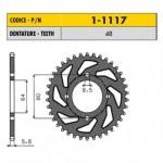 1-1117-48 - Corona in Acciaio Sunstar passo 420 con 48 denti