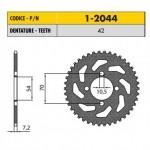 1-2044-42 - Corona in Acciaio Sunstar passo 428 con 42 denti