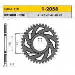 1-2058-47 - Corona in Acciaio Sunstar passo 428 con 47 denti