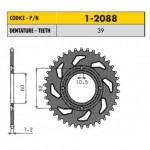 1-2088-39 - Corona in Acciaio Sunstar passo 428 con 39 denti