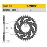 1-2097-51 - Corona in Acciaio Sunstar passo 428 con 51 denti