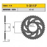 1-2117-45 - Corona in Acciaio Sunstar passo 428 con 45 denti