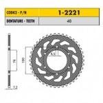 1-2221-48 - Corona in Acciaio Sunstar passo 428 con 48 denti