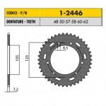 1-2446-50 - Corona in Acciaio Sunstar passo 428 con 50 denti