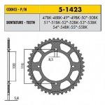 5-1423-52BK - Corona in Ergal Sunstar passo 420 con 52 denti