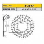8-3547-52 - Corona in Acciaio Inox Works-Z - Lega in Acciaio Inox Sunstar passo 520 con 52 denti