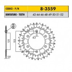 8-3559-50 - Corona in Acciaio Inox Works-Z - Lega in Acciaio Inox Sunstar passo 520 con 50 denti