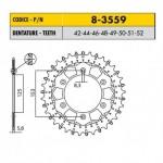 8-3559-52 - Corona in Acciaio Inox Works-Z - Lega in Acciaio Inox Sunstar passo 520 con 52 denti