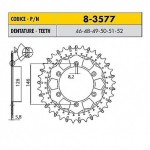 8-3577-46 - Corona in Acciaio Inox Works-Z - Lega in Acciaio Inox Sunstar passo 520 con 46 denti