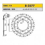 8-3577-49 - Corona in Acciaio Inox Works-Z - Lega in Acciaio Inox Sunstar passo 520 con 49 denti