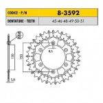 8-3592-51 - Corona in Acciaio Inox Works-Z - Lega in Acciaio Inox Sunstar passo 520 con 51 denti