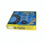 K520XTG027 - Kit Trasmissione con catena di tipo XTG Sunstar Passo 520, Pignone con 15 denti, Corona con 49 denti
