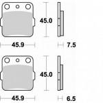 686CM44 - PASTIGLIE SINTERIZZATE POSTERIORE SINISTRO CM44