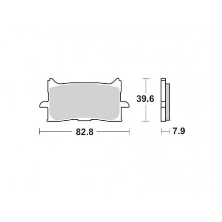 971CM55 - PASTIGLIE SINTERIZZATE ANTERIORE DESTRO CM55