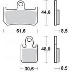 P1R928 - PASTIGLIE SUPER SINTERIZZATE RACING ANTERIORE DESTRO P1R